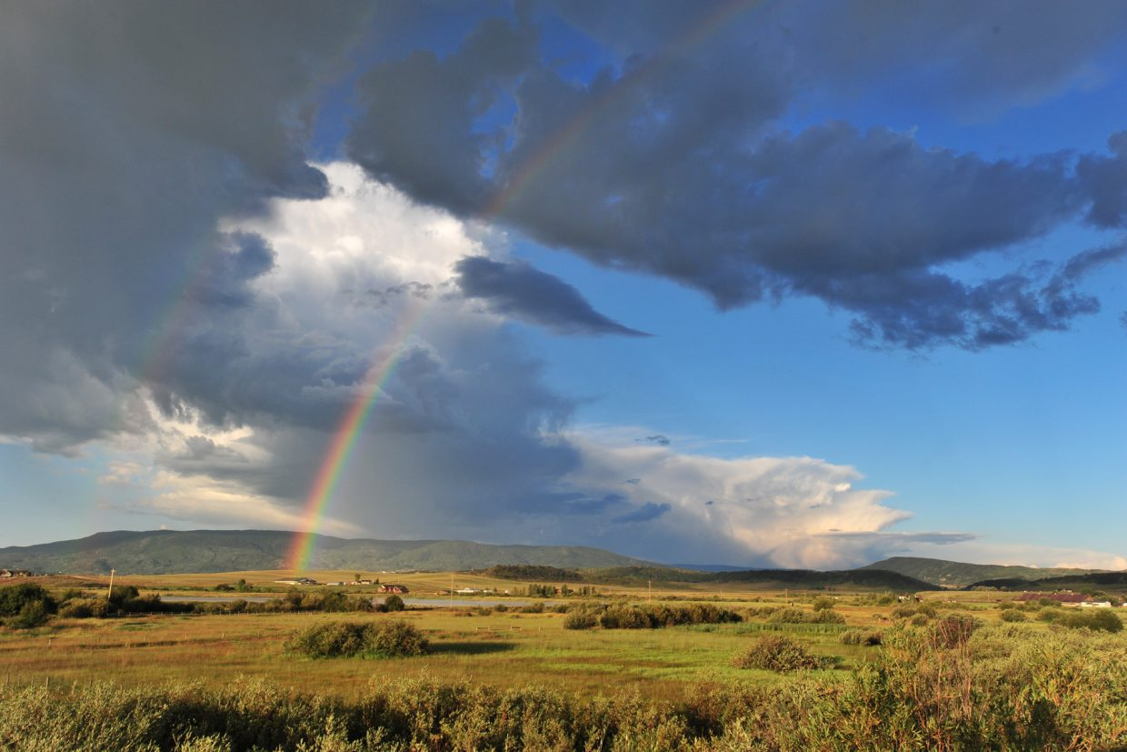 Morning rainbow over Sidney. Submitted by Bill Stewart.