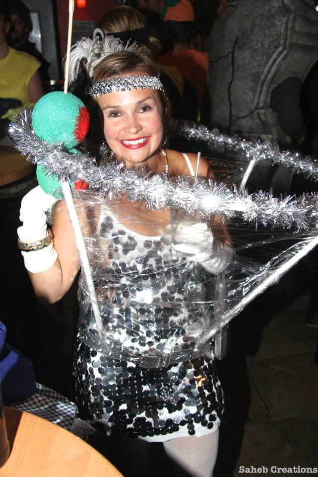 Shannon McCabe dressed up as a martini glass last year for Halloween.