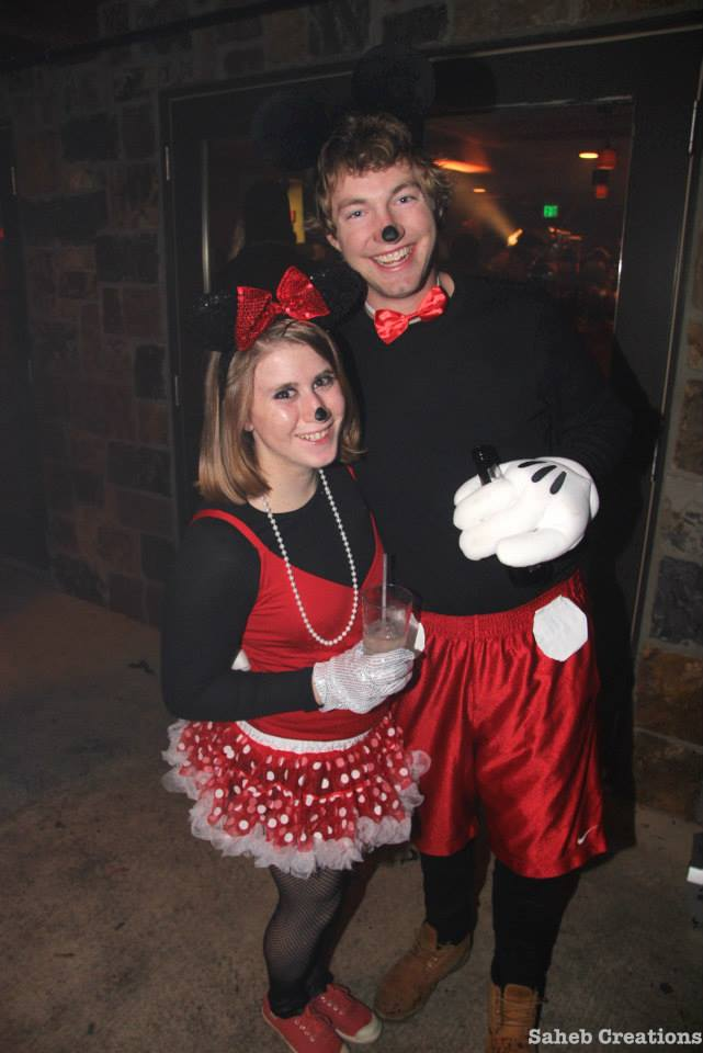 Hannah Fishman and Doug Fisher went as Mickey Mouse and Minnie Mouse last year for Halloween.