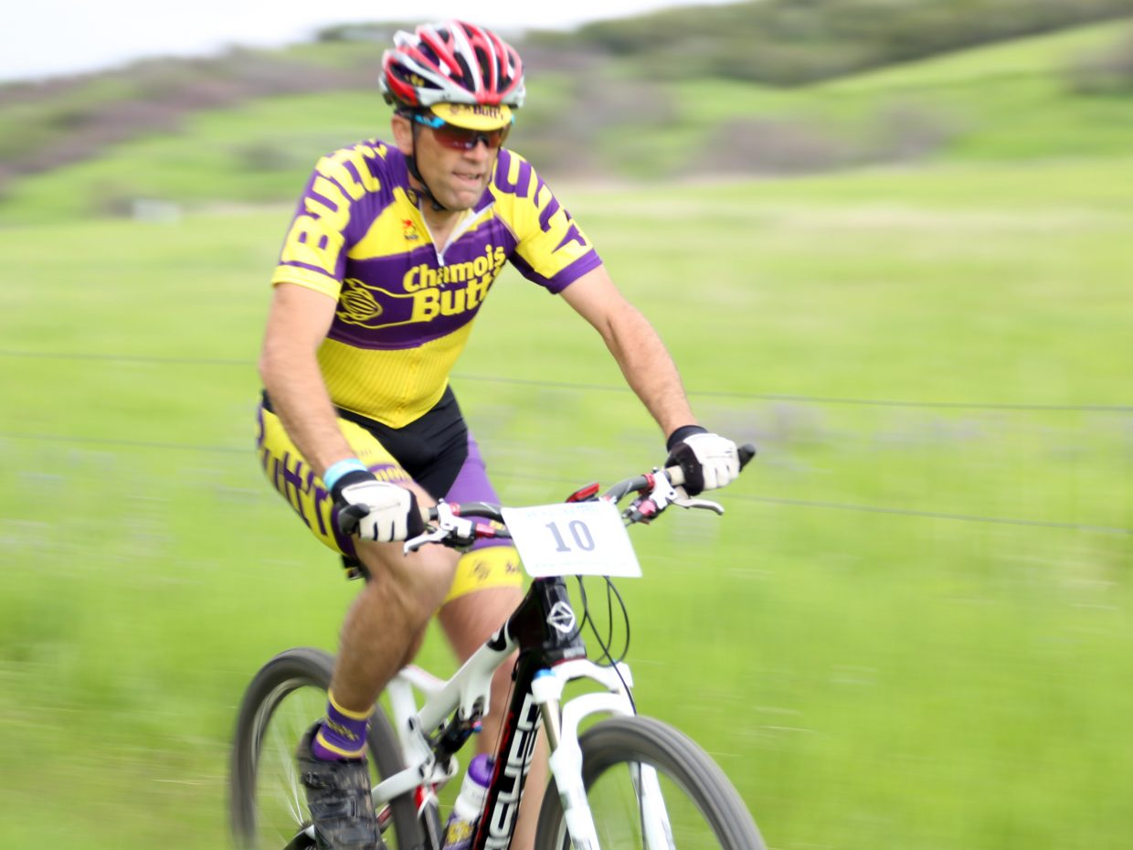 Andrew Miller competes in the Marabou XC Town Challenge race on Wednesday, June 10, 2015, at Marabou Ranch.