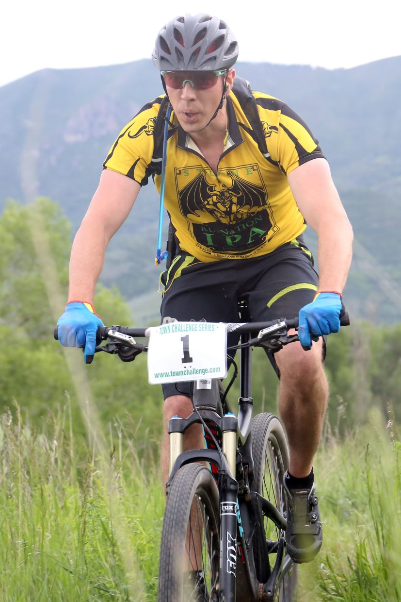 Dylan Erhart competes in the Marabou XC Town Challenge on Wednesday, June 10, 2015, at Marabou Ranch.