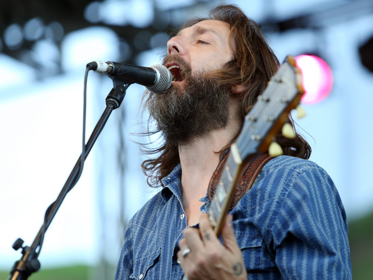 Chris Robinson, formerly of The Black Crowes, sings lead vocals for the Chris Robinson Brotherhood on Friday, June 19, 2015, in the first show of the season in the Free Summer Concert Series at the base of Howelsen Hill in Steamboat Springs. The next show is July 3 with the R&B band New Orleans Suspects.