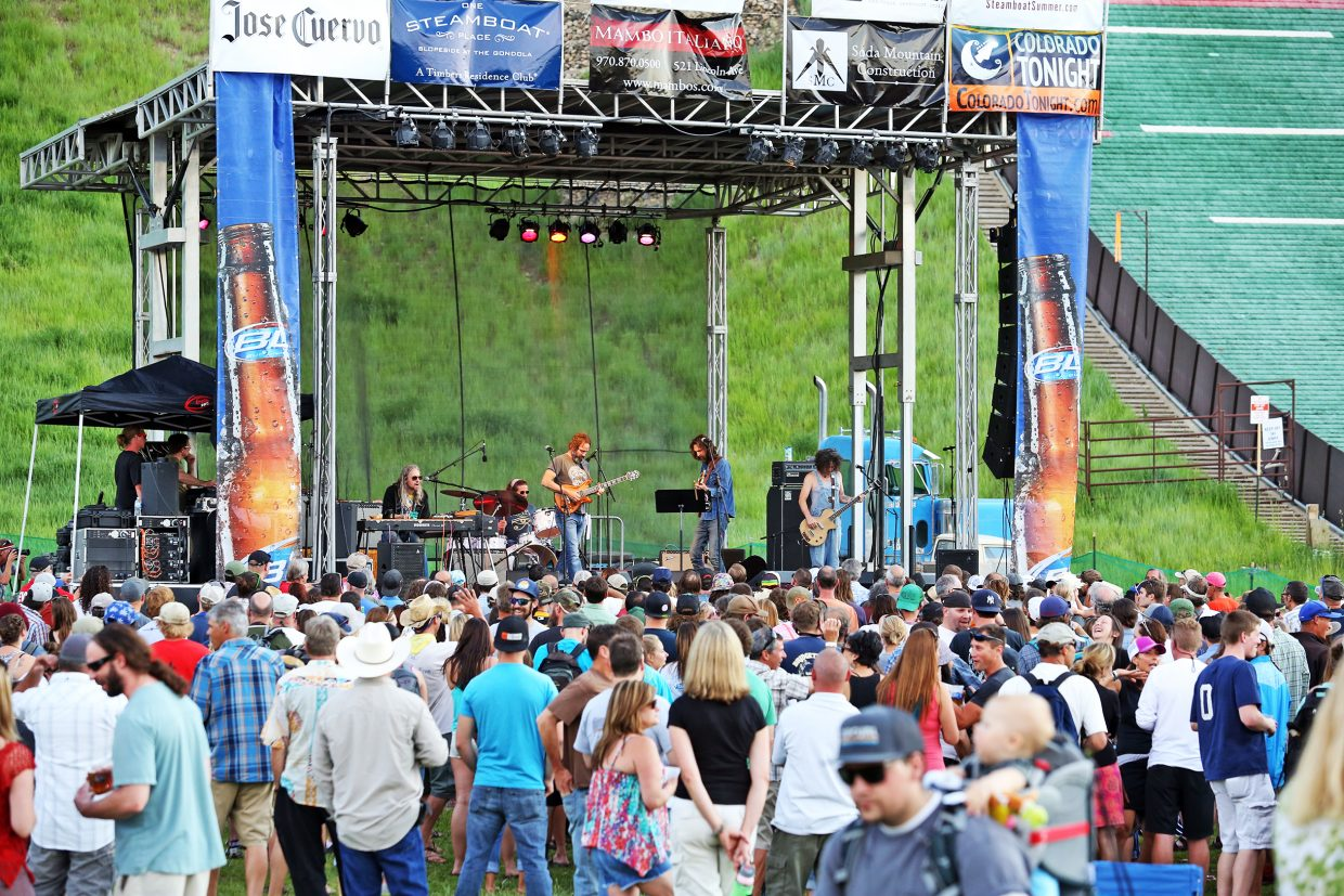 The Chris Robinson Brotherhood was the first show of the 2015 season for the Steamboat Springs Free Summer Concert Series at the base of Howelsen Hill. The benefit on Friday at the Chief Theater will have live entertainment, an auction and the announcement for four of the five headlining acts for 2016.