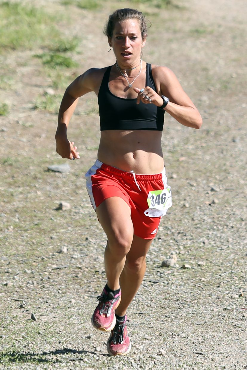 Steamboat Springs resident Penelope Freedman competes in the eight-mile race of the Howelsen Hill Trail Run on June 20 in Steamboat Springs. Freedman was the top female finisher in the race with a time of 1 hour, 52 minutes, 35 seconds.