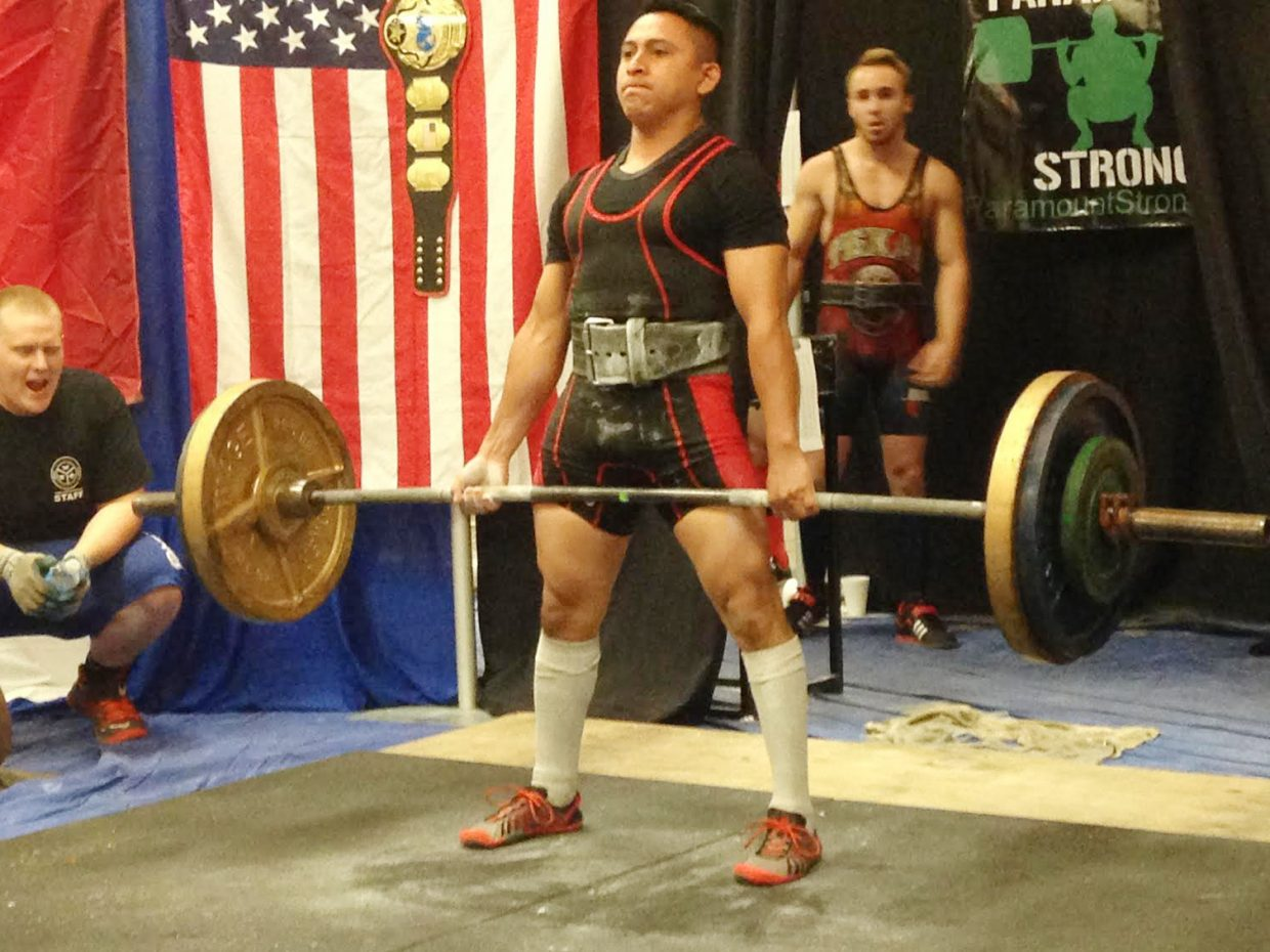 Steamboat Springs resident Rodrigo Flores competed in the Natural Athlete Strength Association U.S.A. Nationals powerlifting meet June 20-21 in Dallas, Texas. He finished first in his weight class, earning a national championship in just his first year as a powerlifter.