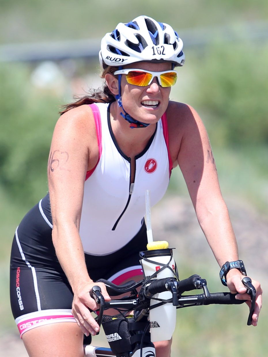 The 2015 Tri the Boat half-Ironman triathlon on Sunday, June 28, 2015, at Stagecoach State Park.