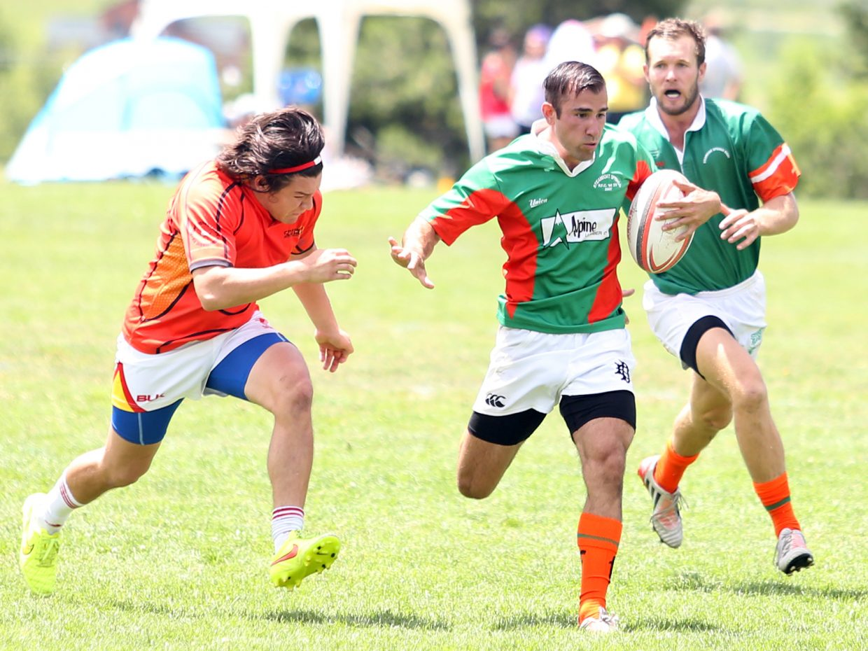 Players compete in the 2015 Cow Pie Classic rugby tournament at the Ski Town Fields. The Steamboat Springs men's rugby team is set to kick off its season on Saturday against Glenwood Springs.