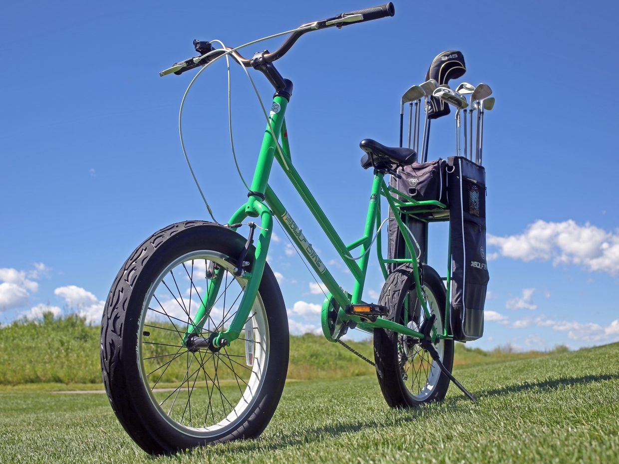 The Golf Bike, created in 2010 by Florida-based Higher Ground Golf Co. president Todd May, is this summer's newest attraction at Haymaker Golf Course in Steamboat Springs. For $15, golfers can rent these bikes for 18 holes, a healthier option than the traditional motorized golf cart.