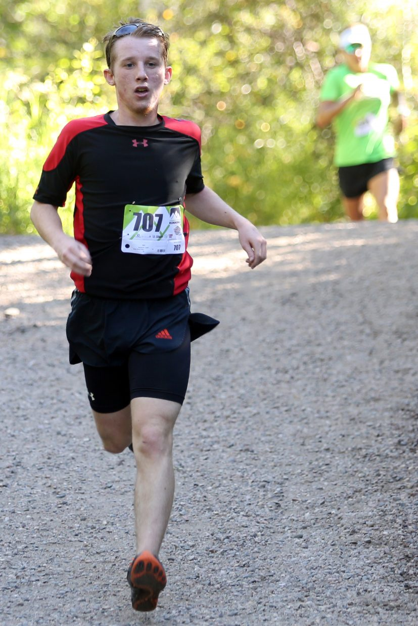 Benjamin Lingle, 18, competes in Saturday's Spring Creek Memorial 5K race in Steamboat Springs. Lingle finished fifth overall in 22:10.