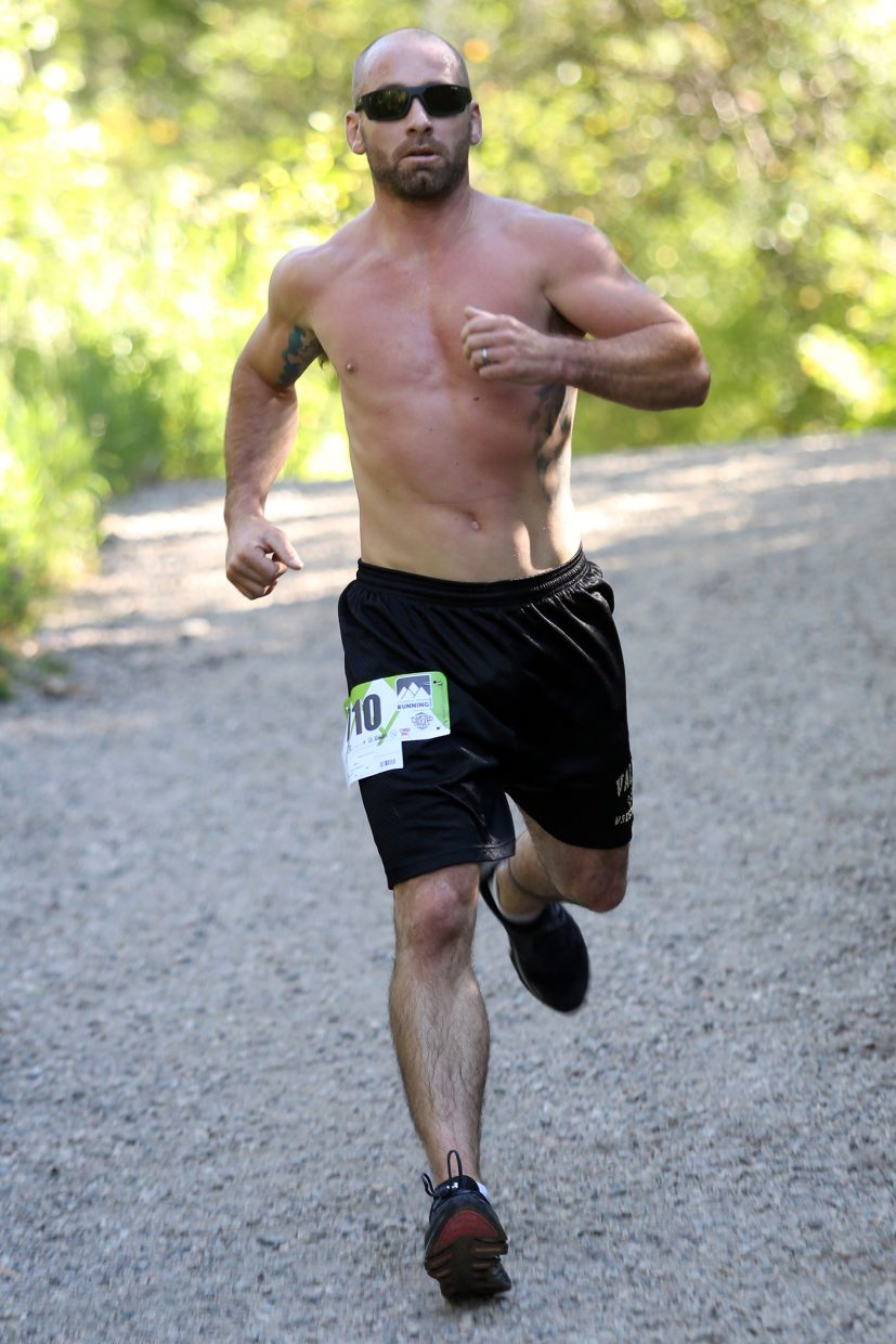Travis Linsacum competes in Saturday's Spring Creek Memorial 5K race in Steamboat Springs. He finished eighth overall in 22:52.