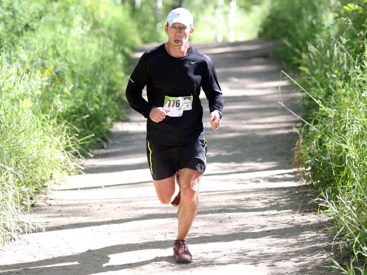 James Womack competes in Saturday's Spring Creek Memorial 9-mile race in Steamboat Springs. He finished 14th overall in 1:22:08.