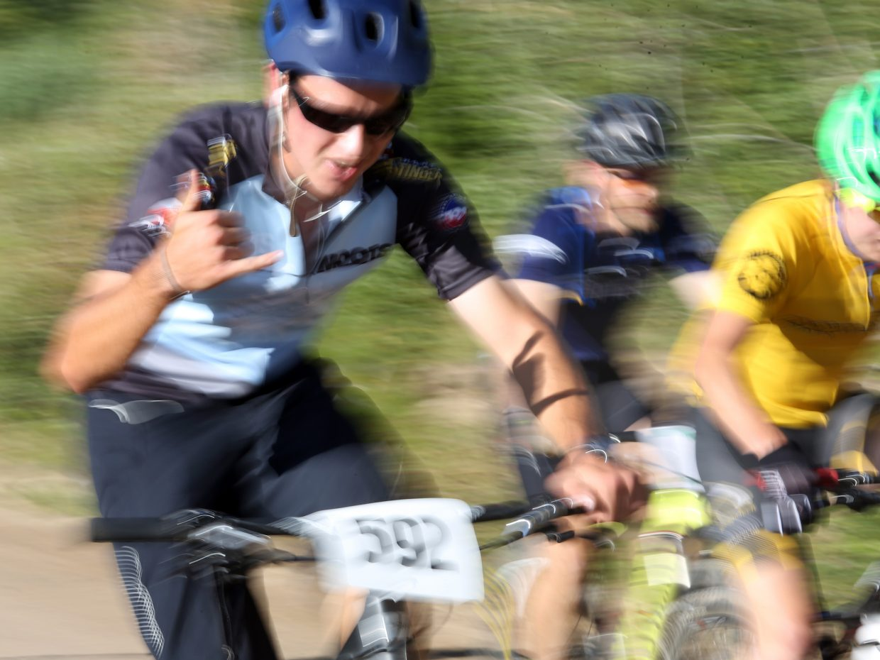 Nathan Williard competes in Wednesday's Storm Peak Hill Climb on Mount Werner.