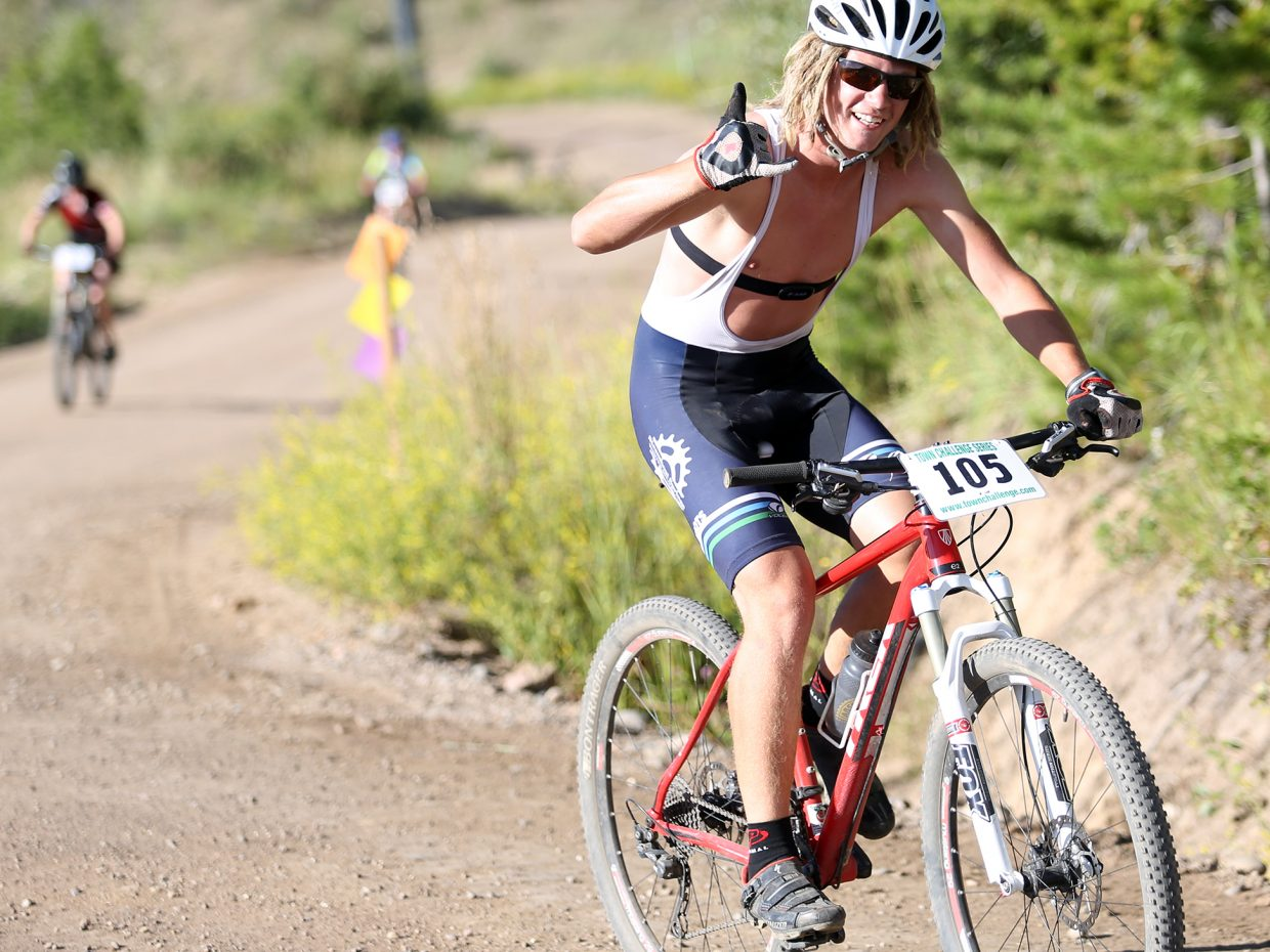 Ethan Moyer competes in Wednesday's Storm Peak Hill Climb on Mount Werner