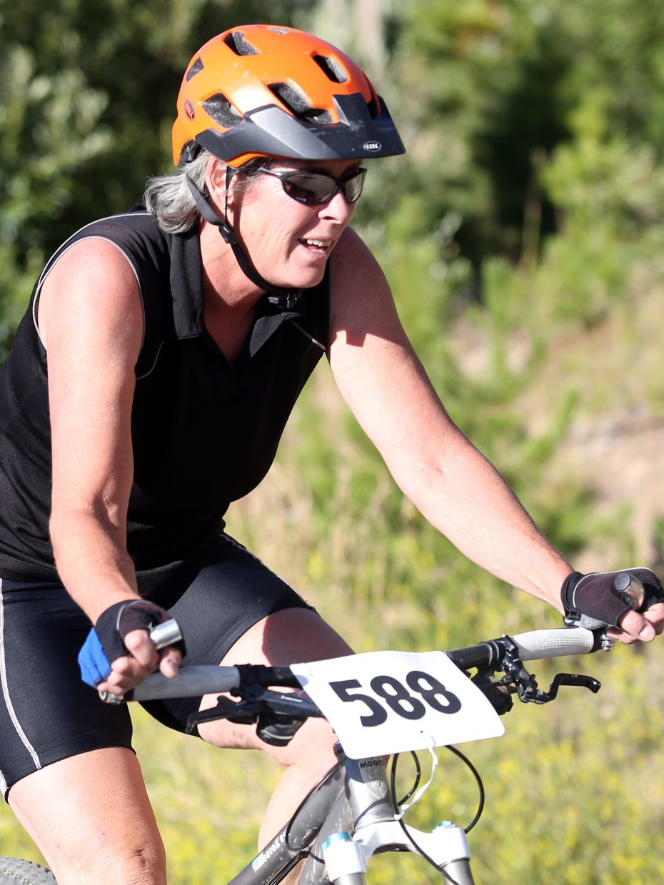 Kathleen Fitzsimmons competes in Wednesday's Storm Peak Hill Climb on Mount Werner.