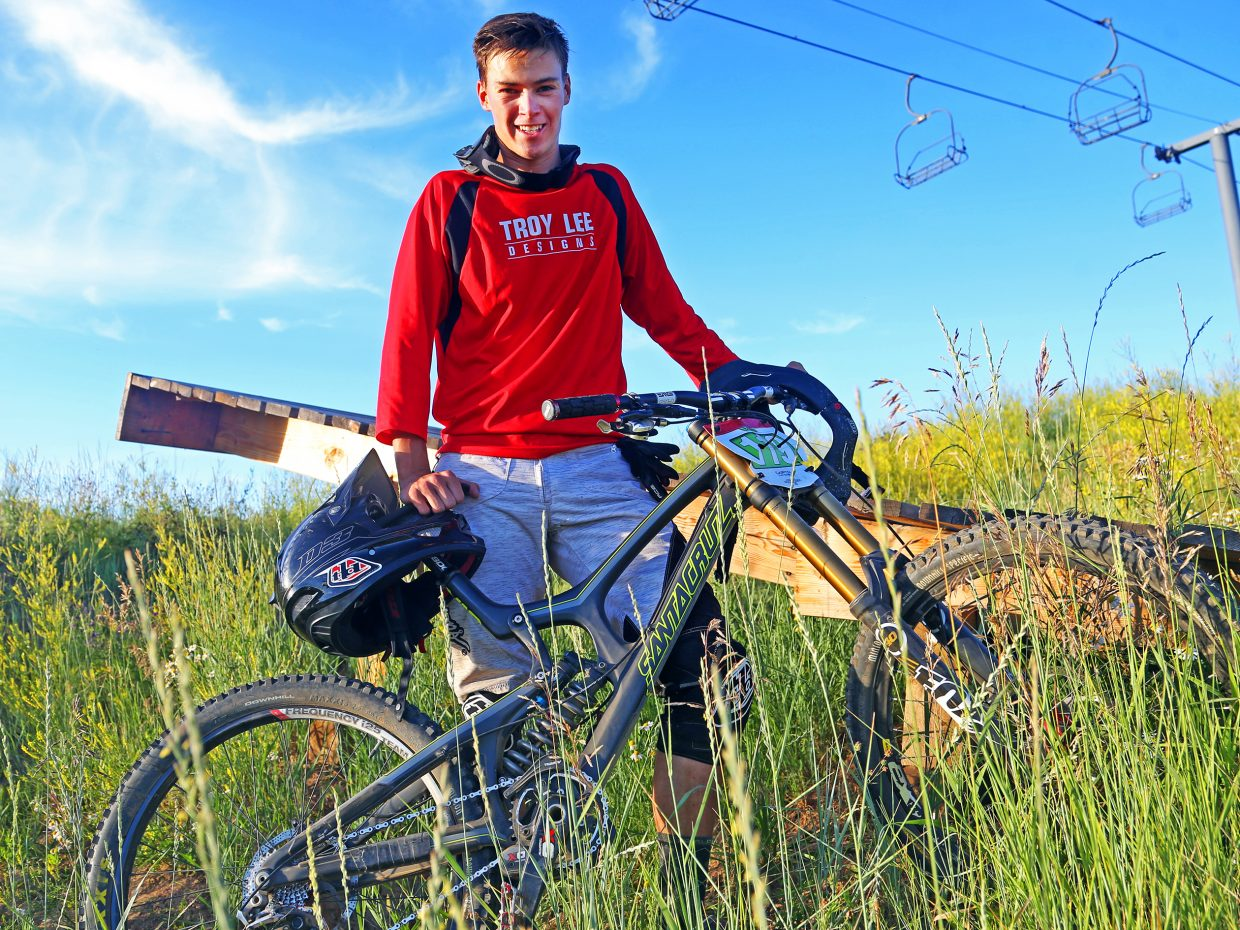 Nate Bowman, a 2015 Steamboat Springs High School graduate and Winter Sports Club alpine skier, has become one of the area's top downhill mountain bikers this summer. Through three races, Bowman leads the overall points standings for the men's open class of the Captain of the Boat Gravity Fed Race Series.
