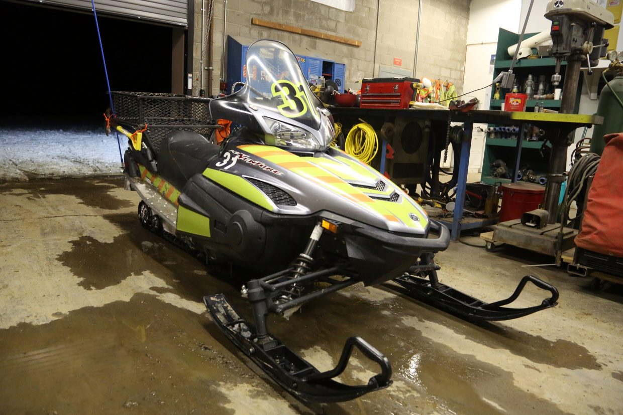 With the control building located approximately halfway up the mountain, between the maintenance shed off Burgess Creek Road and Thunderhead, snowmobiles are the main form of transportation for the snowmaking crew.