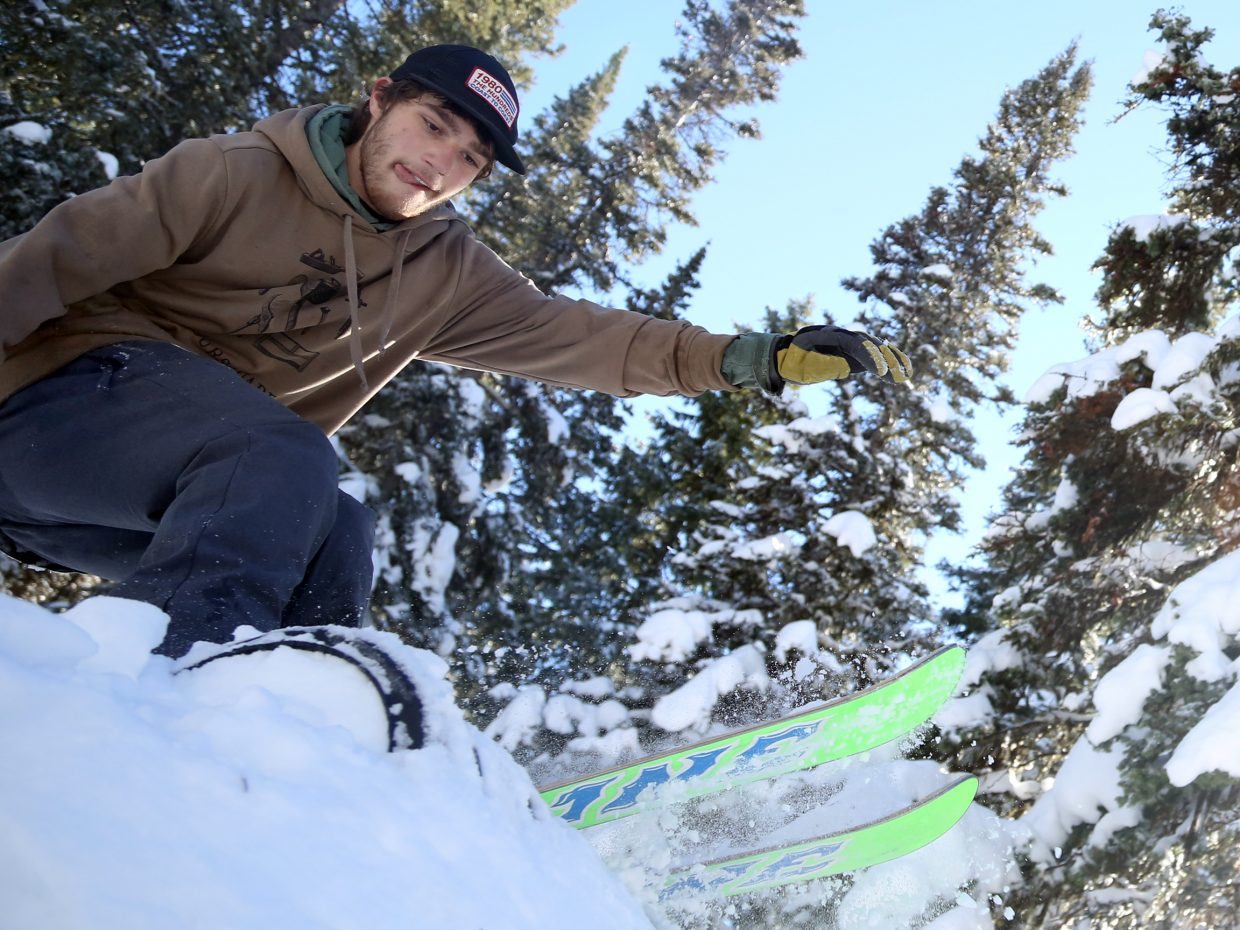 Steamboat's Bryan Radevicz is one of a growing number of skiers who prefers the park environment over that of traditional Alpine skiing.