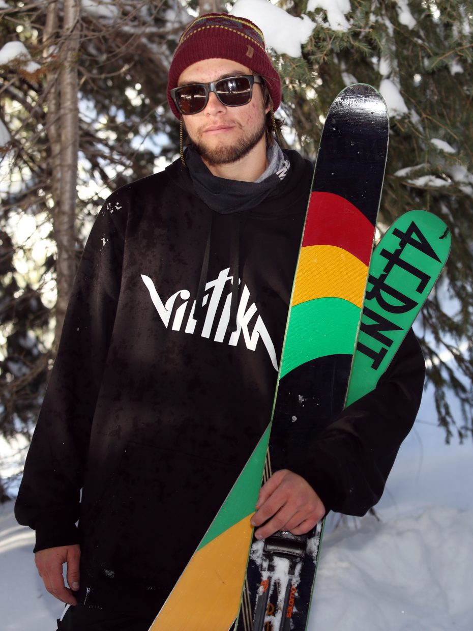 Everything about Steamboat Springs resident Brian Erhart says snowboarder, but the Michigan native is all about finding fresh powder on his skis.
