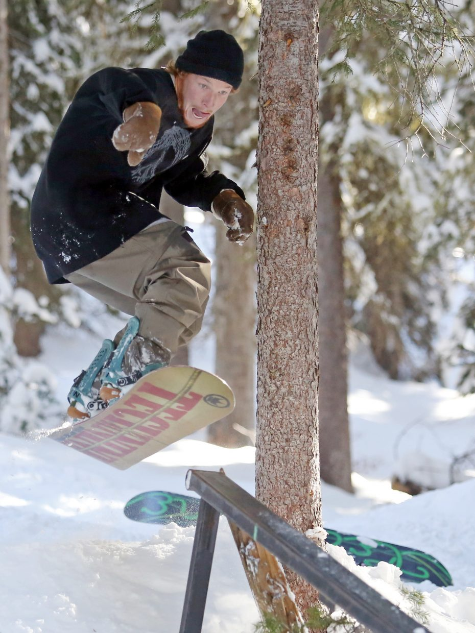 """Steamboat Springs resident Tommer Wallace, a California native, is the definition of a """"snowboard bum,"""" a term he and many of his fellow snowboarder and skier friends embrace."""