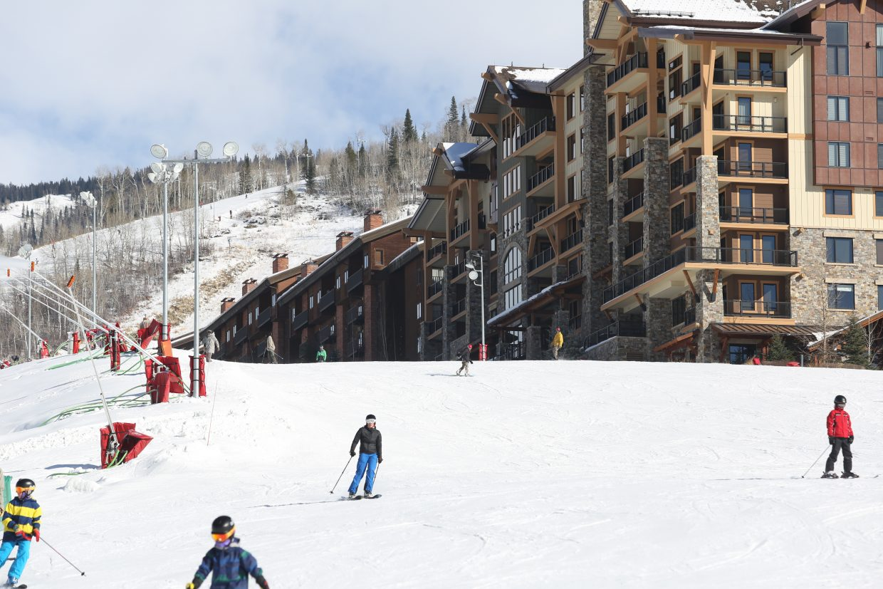 Snowboarders and skiers were able to hit the slopes at the Steamboat Ski Area, officially, for the first time on Saturday.