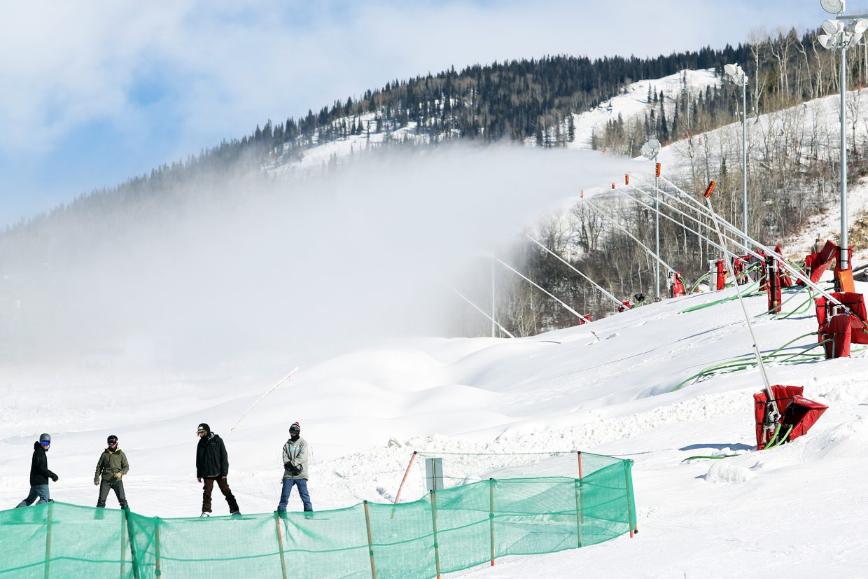 The snow guns were in full gear for Steamboat Ski Area's early opening on Nov. 21. The snowmaking process is key to getting the resort open before December.