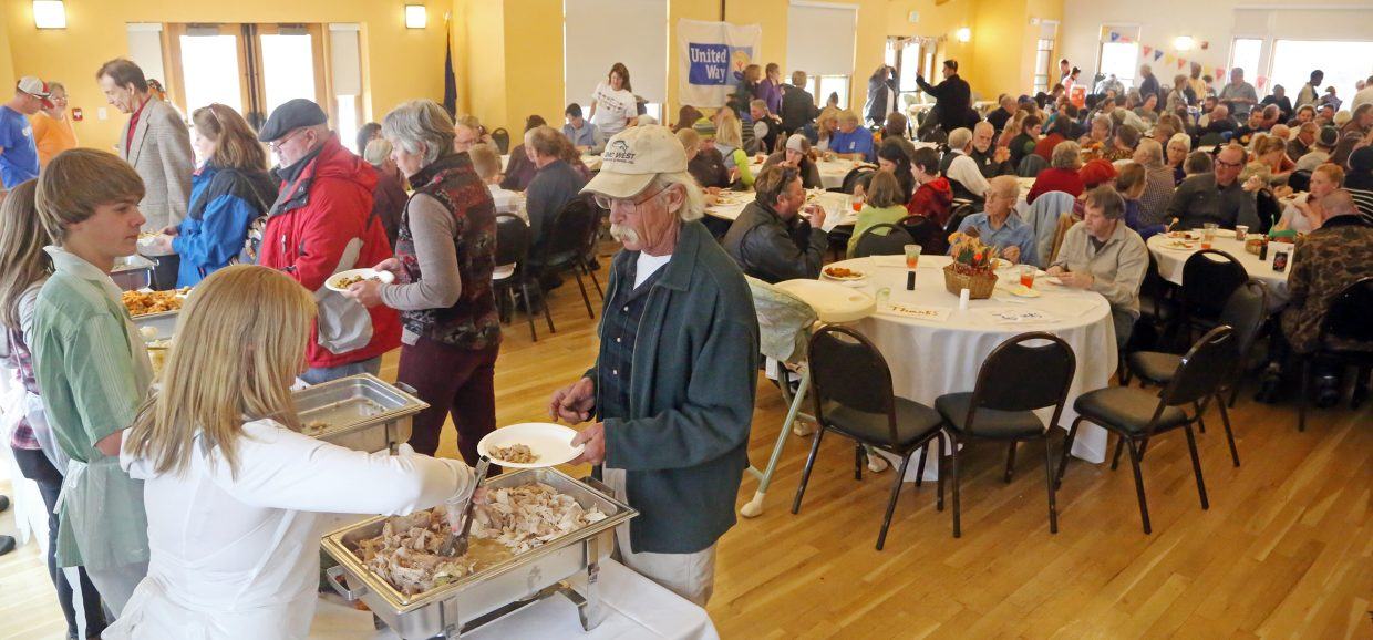 It is almost always a packed house at the Steamboat Springs Community Center for Routt County United Way's annual Community Thanksgiving dinner.