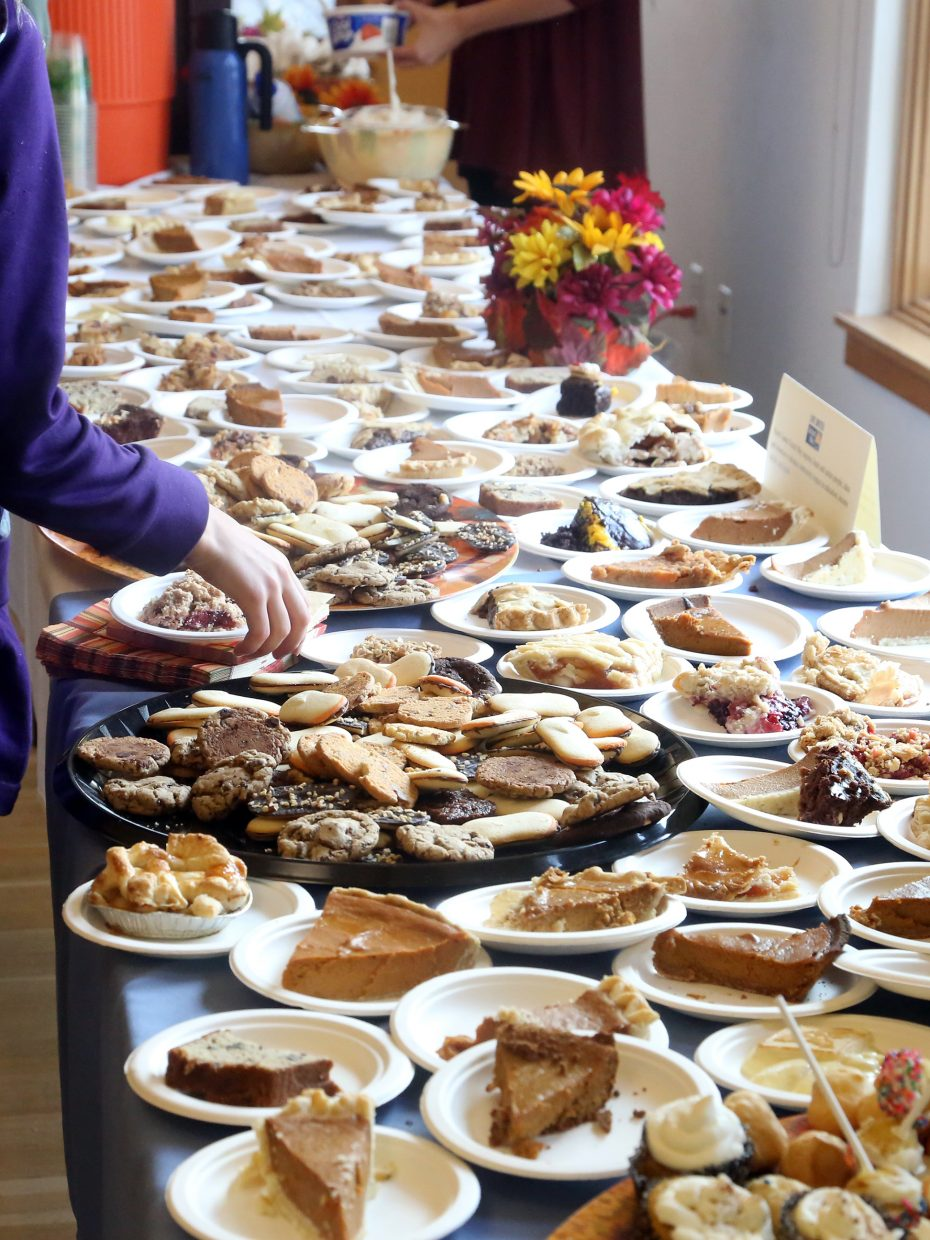 A variety of desserts were available for diners Thursday at Routt County United Way's Thanksgiving dinner.