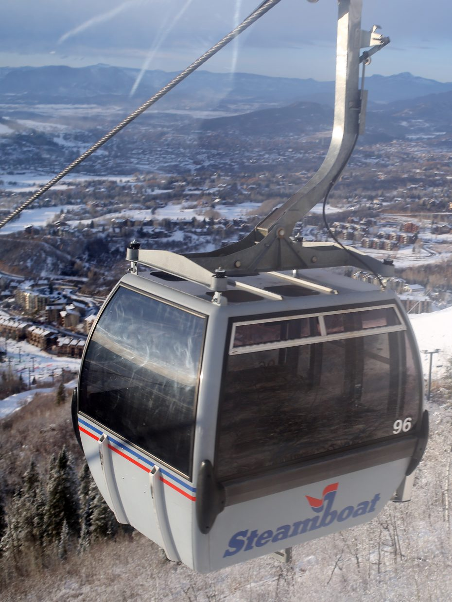 Taking the gondola up the mountain in Steamboat Springs can be a magical experience. Getting back down is easier said than done for first time snowboarders and skiers, however.