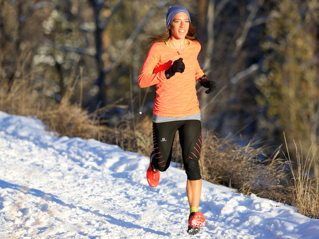 Steamboat Springs resident Penelope Freedman runs along Spring Creek Trail on Saturday. Freedman, who won the local Running Series this summer, will travel to Hawaii this week to compete in the XTERRA Trail Run World Championship.