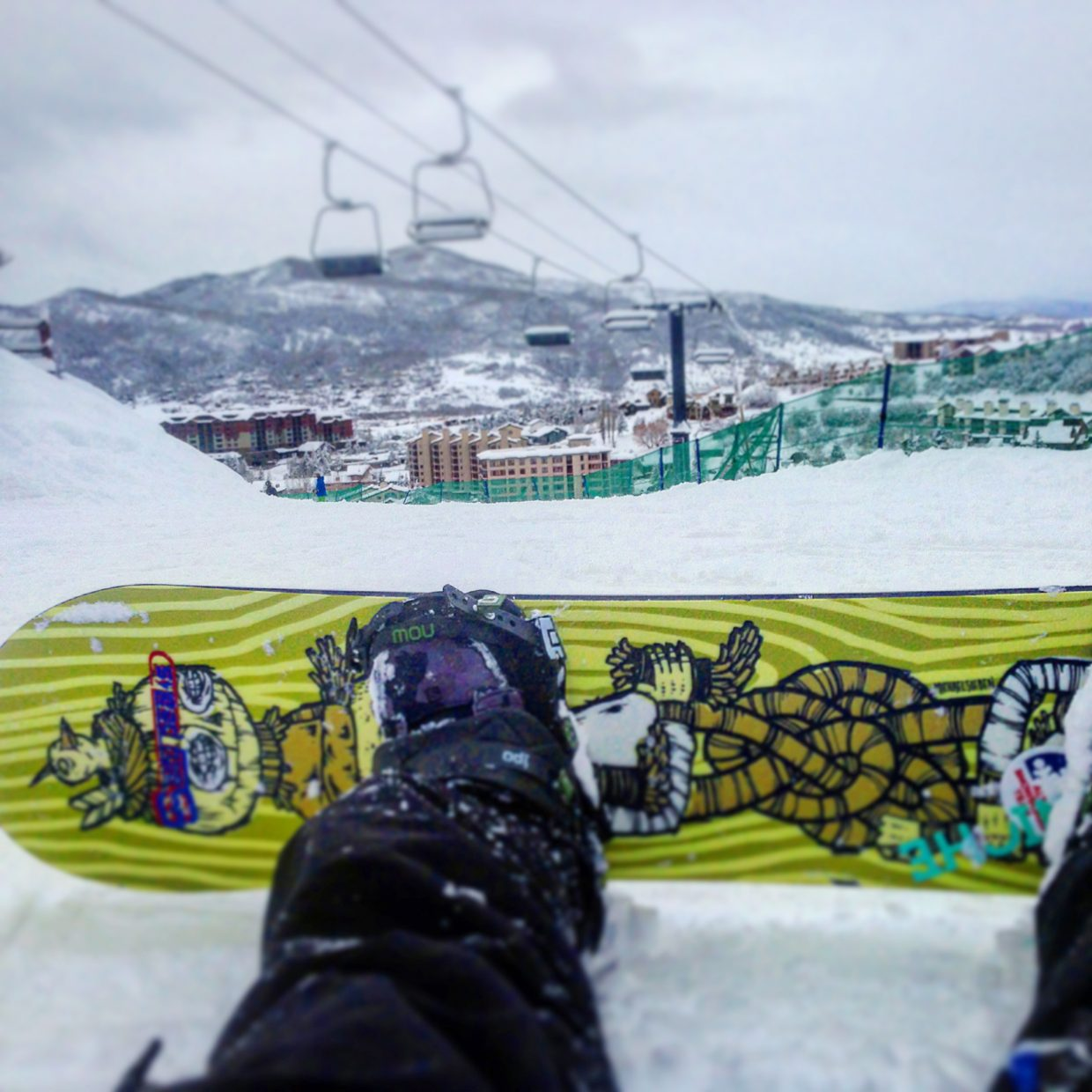 Steamboat Today reporter and photographer Austin Colbert took this picture earlier this week for his Instagram account while practicing at Steamboat Ski Area. It's been weeks in the making, but Colbert, new to snowboarding, is finally on the verge of mastering the bunny slopes.