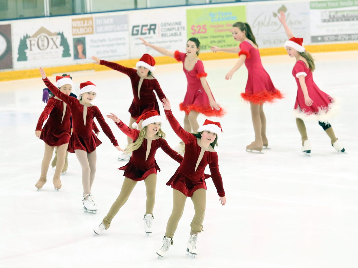 Skaters take to the ice Thursday at the Howelsen Ice Arena in the Steamboat Springs Figure Skating Club's dress rehearsal. The club is holding its annual holiday show Sunday afternoon.