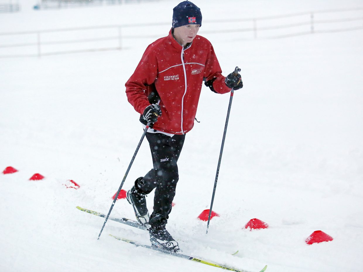 Steamboat Springs High School sophomore Matai Curzon came over from the Winter Sports Club this winter to be part of the Sailors Nordic ski team.