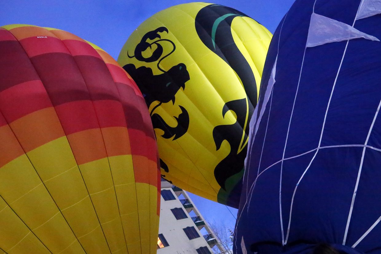 Sunday's Hot Air Balloon Glow was the first part of the 42nd annual Bud Light Cowboy Downhill, which gets underway 11 a.m. Monday at Gondola Square.
