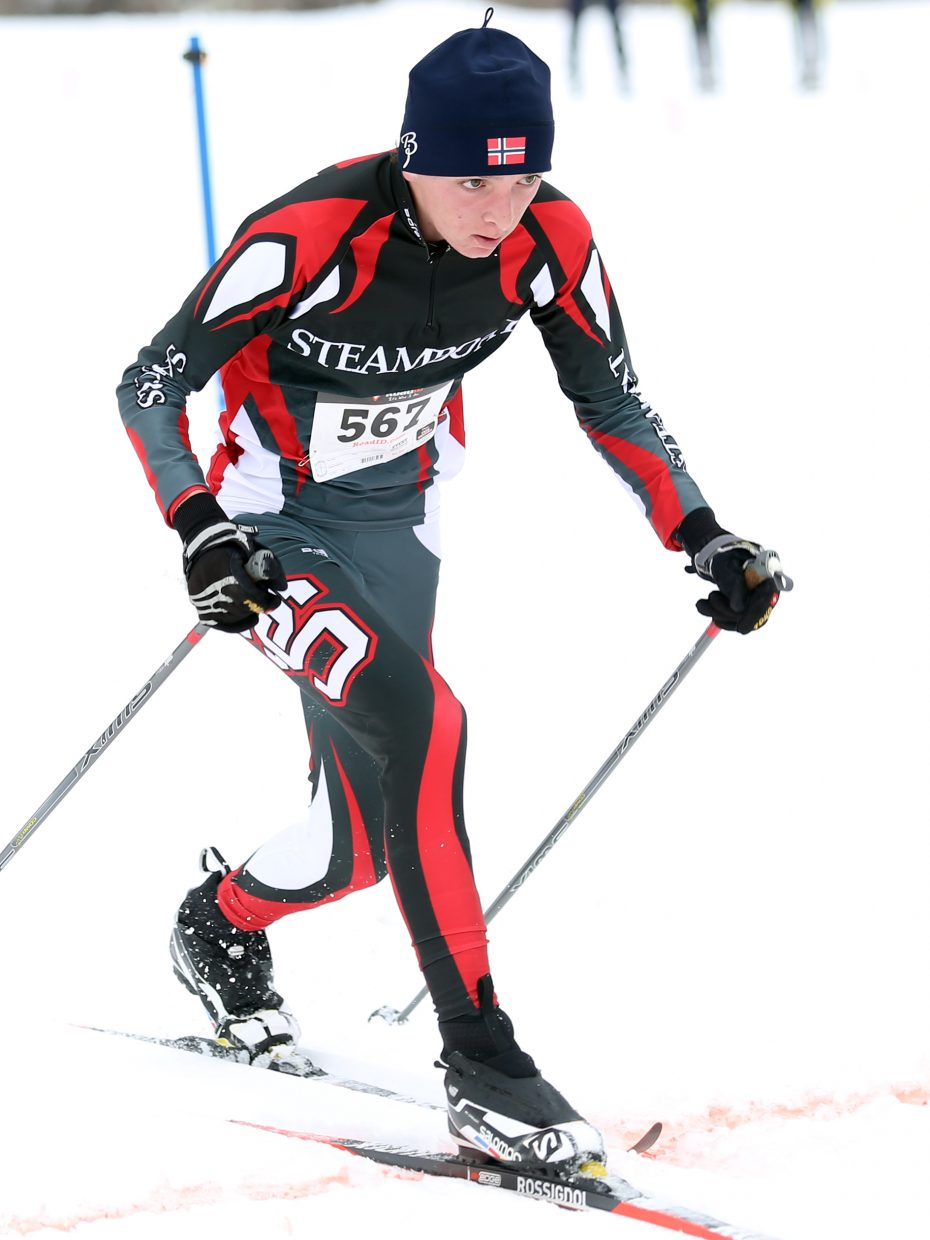 Steamboat Springs High School Nordic skier Matai Curzon competes in Saturday's classic race at the Ski Touring Center. He took 23rd in the boys' 5K race.
