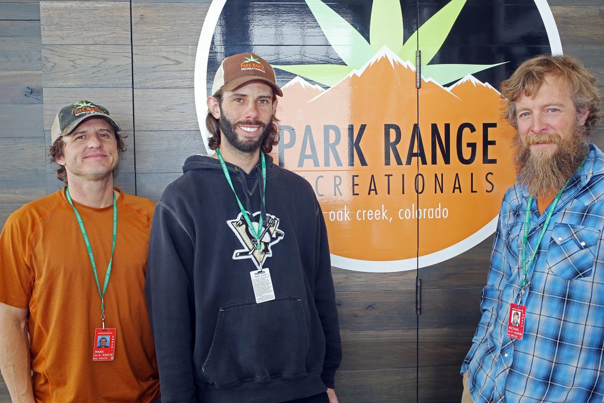 Park Range Recreationals owners, from left, Mark Wellstone, Mark Stepp and Mike Roach.