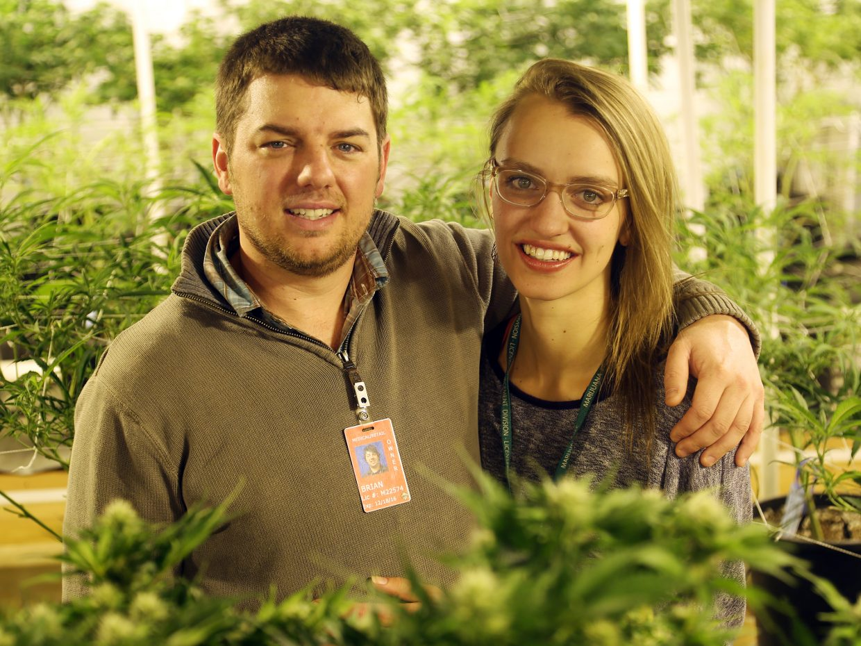 Brian Rogers and Caitlin McGuire own Backcountry Cannabis Company in Oak Creek. The couple was the feature of a CNN documentary on the marijuana industry in 2015.
