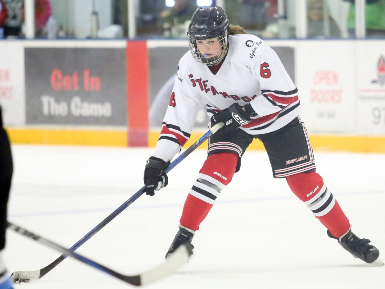Steamboat's Harriet Leeson competes against Colorado Select on Sunday at Howelsen Ice Arena.