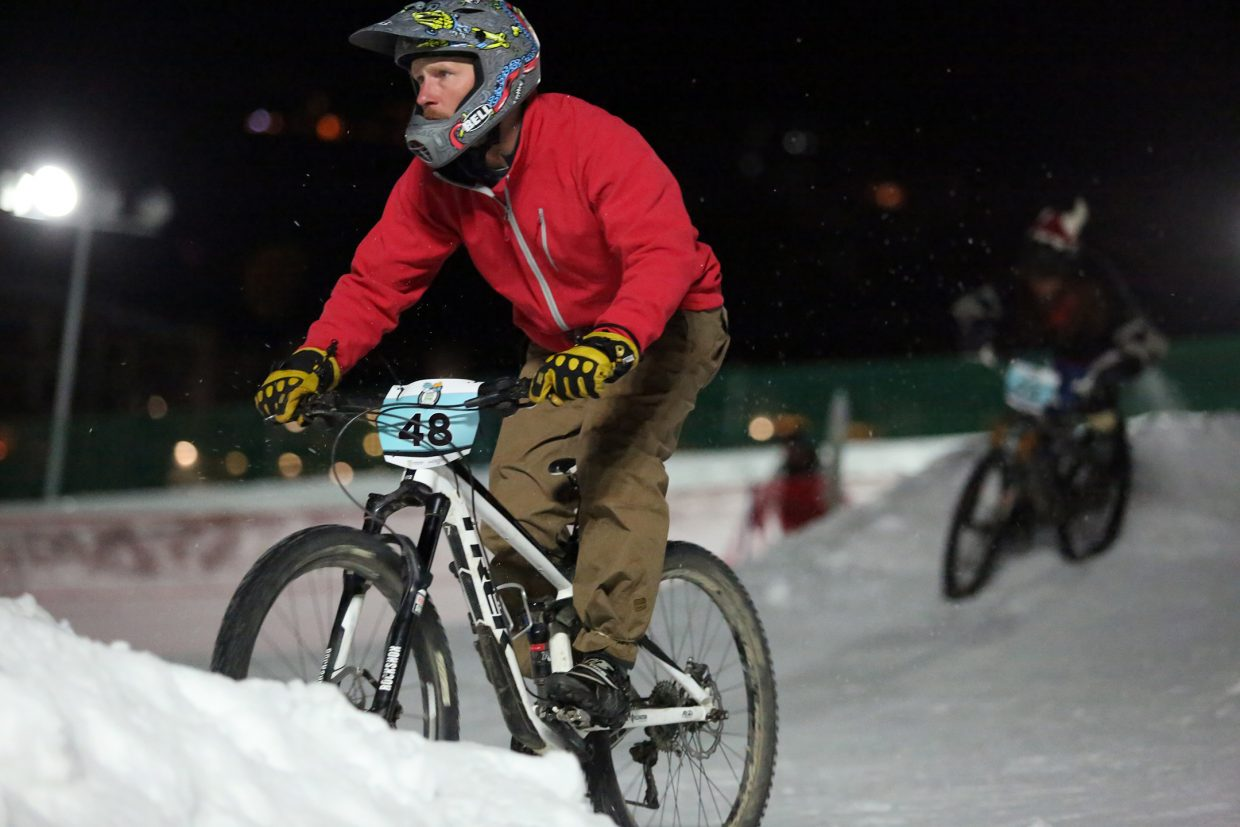 Chip Ellis competes in Friday's inaugural Cool Dual Bike Race at the Steamboat Ski Area.