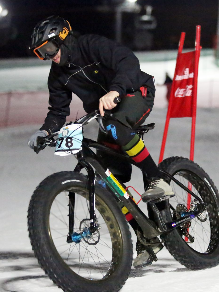 Ryan Yeats competes in Friday's inaugural Cool Dual Bike Race at the Steamboat Ski Area.