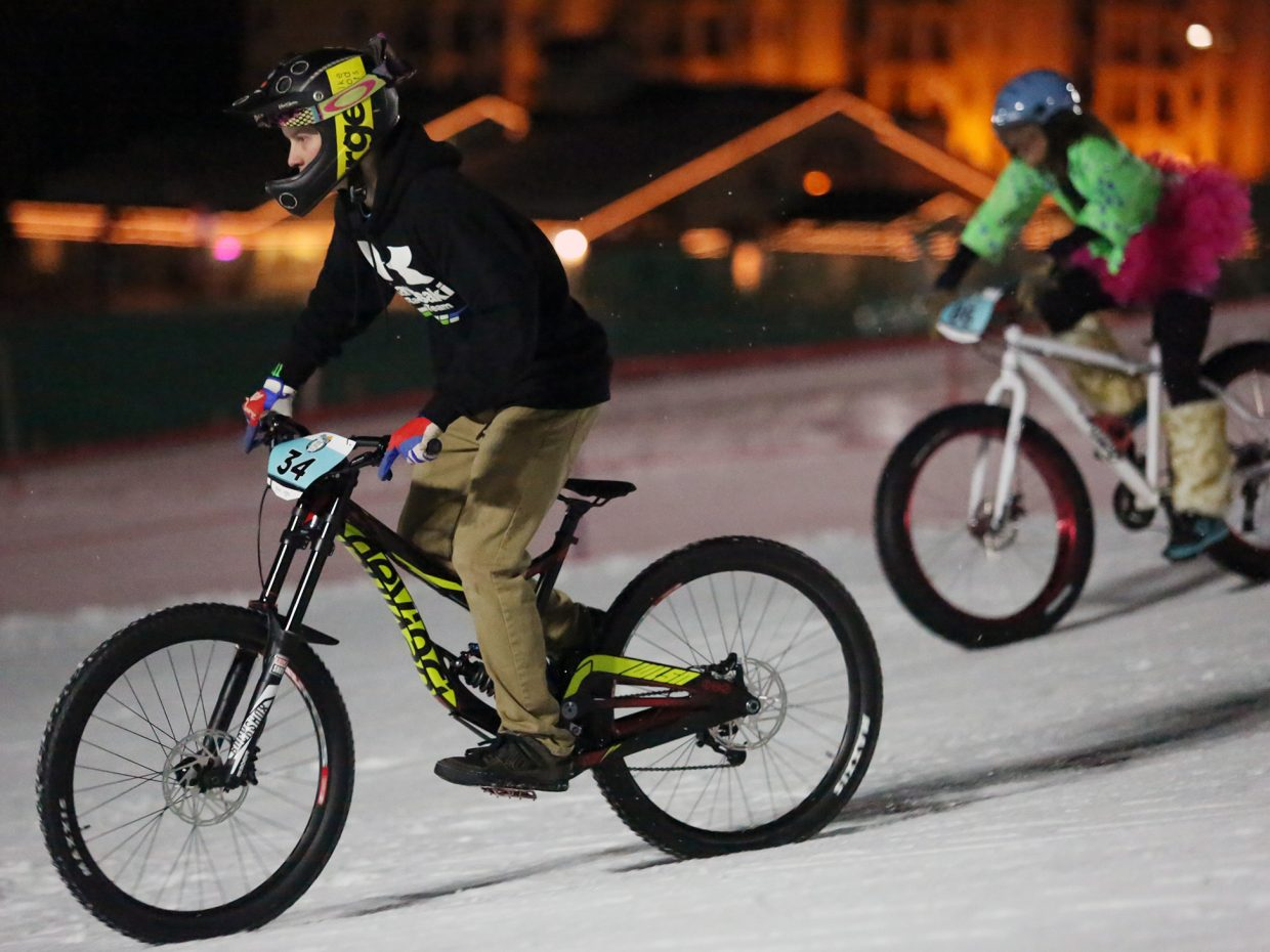 Tanner Demara competes in Friday's inaugural Cool Dual Bike Race at the Steamboat Ski Area.