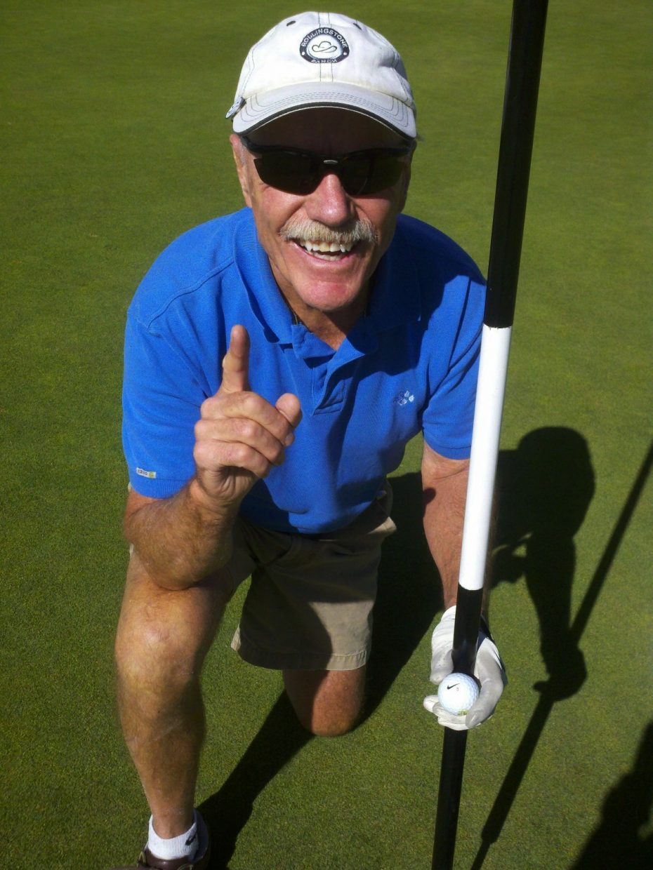 Pete Wither, of Steamboat Springs, hit his first hole-in-one Thursday at Rollingstone Ranch Golf Club. Wither recorded the ace using a 7-iron on the No. 8 hole.