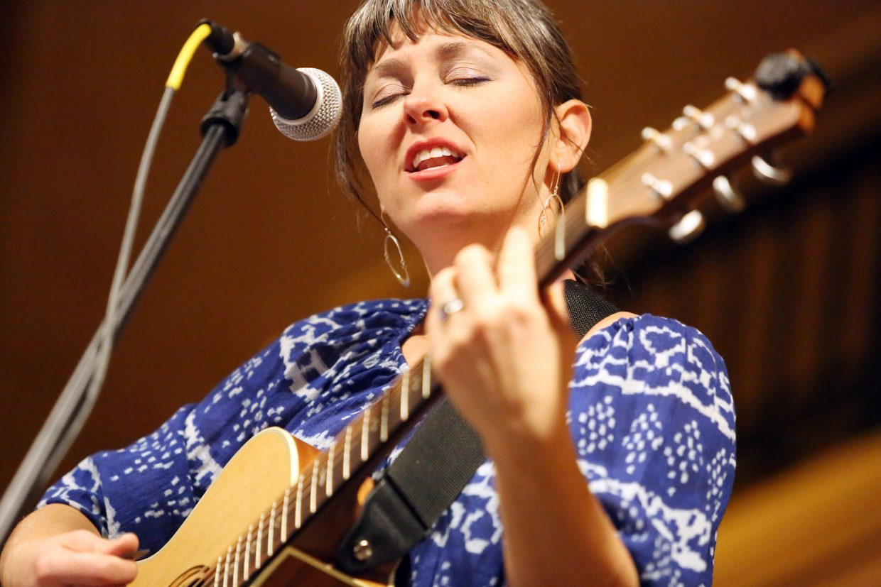 "Steamboat Springs musician Tera Johnson performs Sunday at the Steamboat Grand. The free show was part of her release tour for her newest album, ""Home,"" which was produced, engineered and co-arranged by John Bamber. Johnson will make numerous other appearances in the Yampa Valley over the coming month."