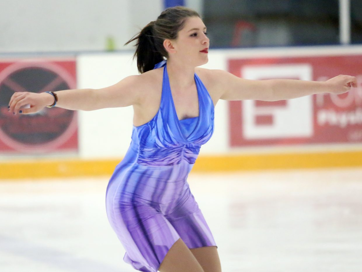 "Sage Turek performs to ""Only the Ocean"" by Jack Johnson during Sunday's annual Steamboat Springs Figure Skating Club spring ice show at Howelsen Ice Arena."