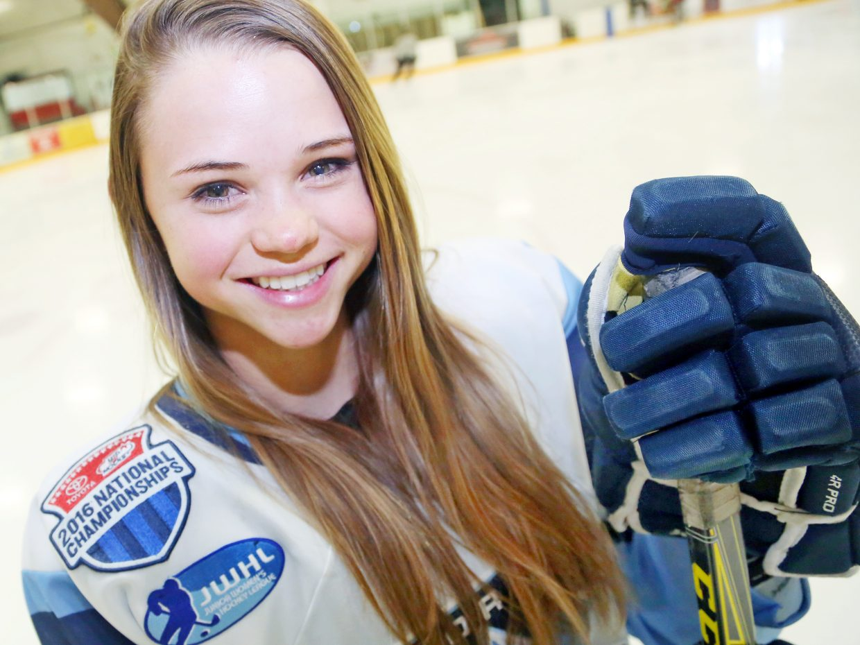 Steamboat Springs High School sophomore Renee Lorenzen is a member of the Littleton-based Colorado Select girls' 16AAA Tier 1 hockey team. The Select will compete in next week's USA Hockey Youth Nationals in Minneapolis, Minnesota.