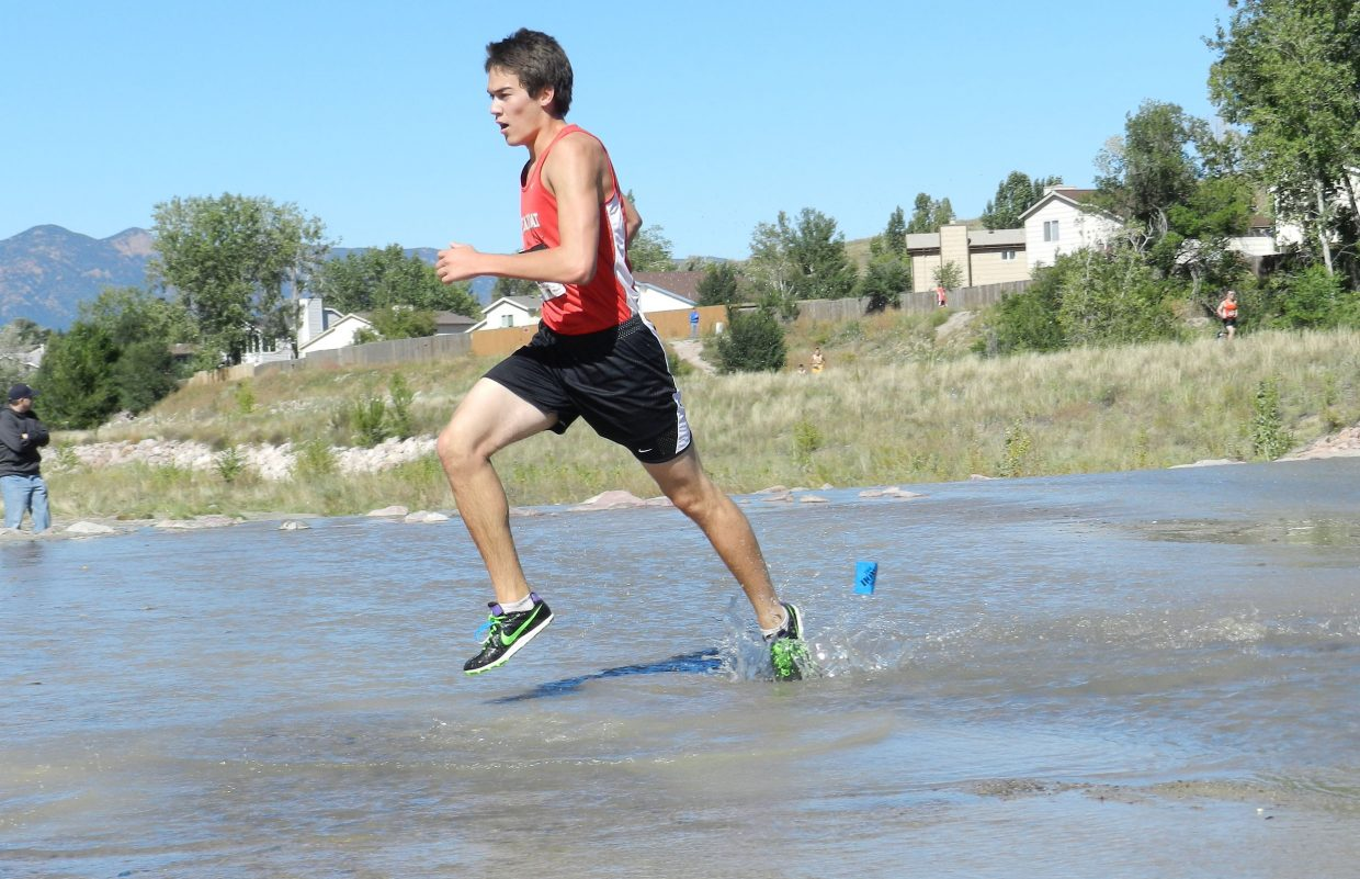 Zach Sperry, the Steamboat Springs High School cross-country team's top boys runner, competes in the Rampart Foxes and Hounds Invitational last weekend. The Sailors cross-country team will host its first-ever community wide homecoming race Friday night.
