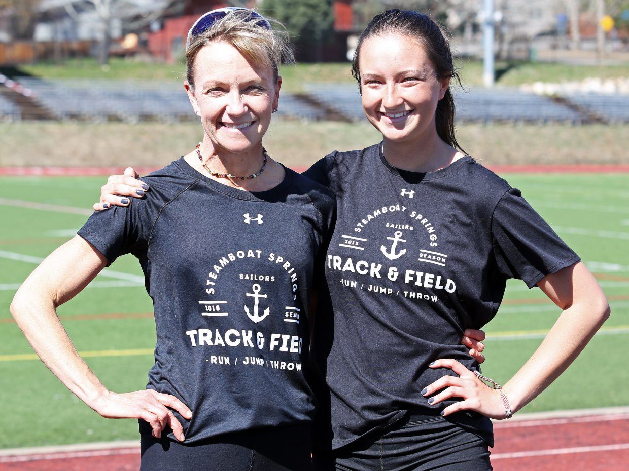 Running is a family affair for Steamboat Springs High School track and field coach Lisa Renee Tumminello, left, and her daughter, Steamboat Springs High School senior Alexandra Tumminello.