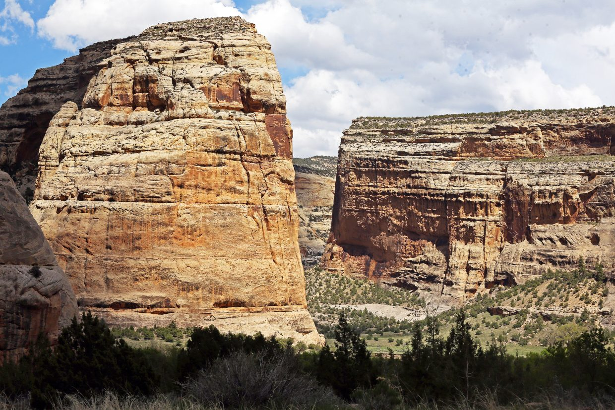 Echo Park, located in the heart of Dinosaur National Monument, is near where the Yampa River merges into the Green River.