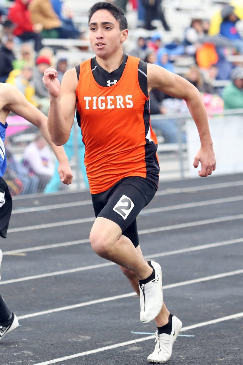 Hayden sophomore Alan Aguirre competes in a sprint race Friday in Craig.
