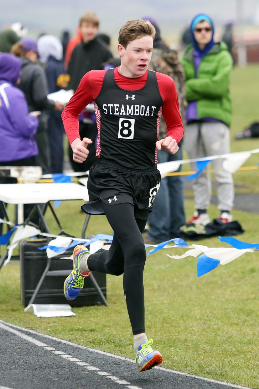 Steamboat Springs Finn O'Connell competes in the boys' 1,600-meter race Friday in Craig. He finished eighth in 5:02.48.