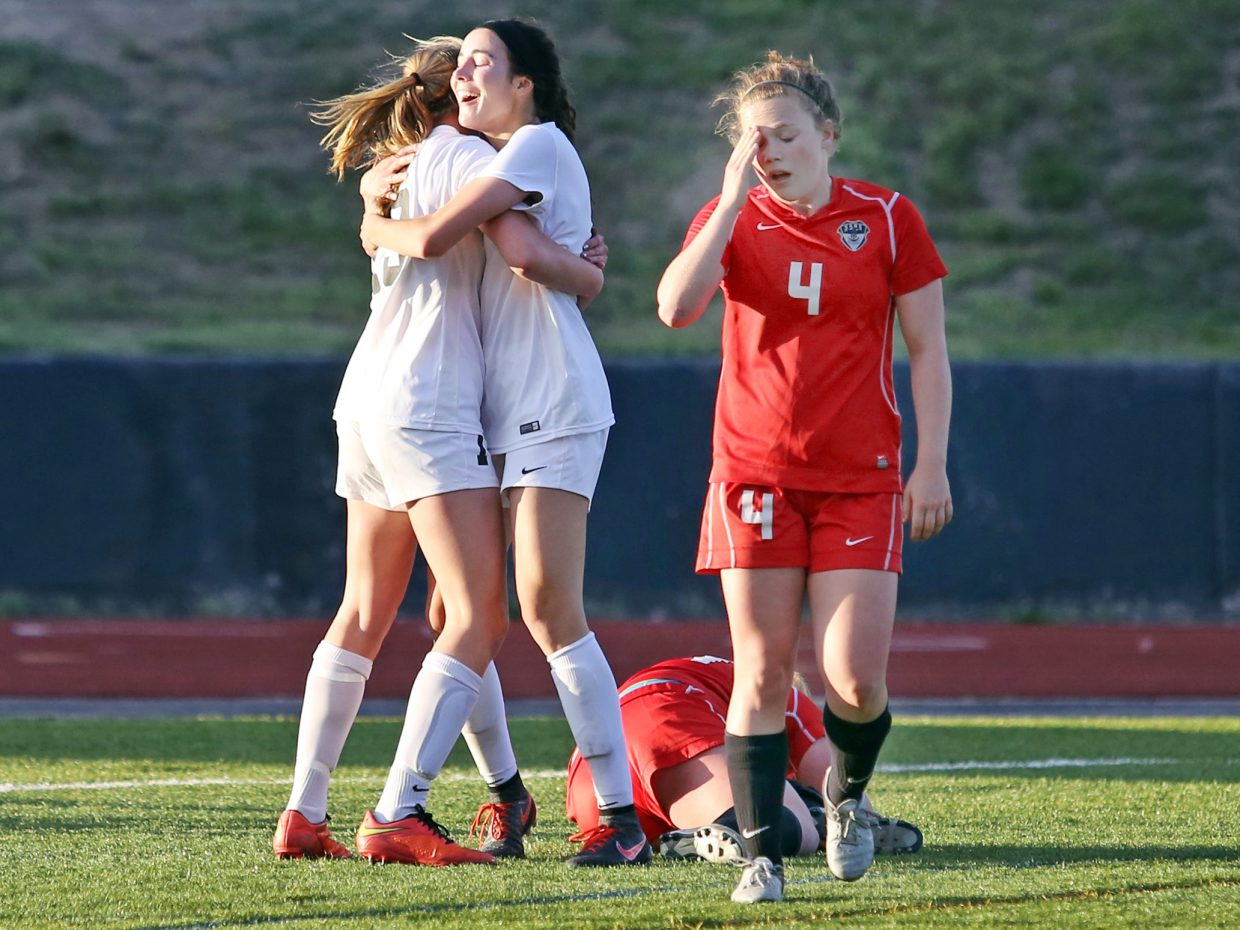 Steamboat Springs senior Logan Sankey rubs her forehead after the Rangers scored their third goal in a 3-0 win over the Sailors in Thursday's Class 4A state quarterfinal game in Monument. SSHS ends its season 16-2 overall.